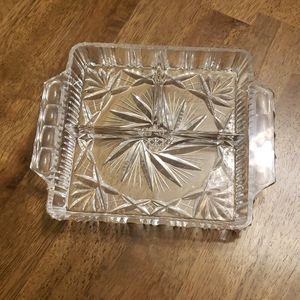 Other - Cut crystal sectioned serving dish